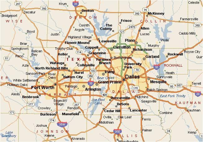 Dallas Party Bus Service Areas