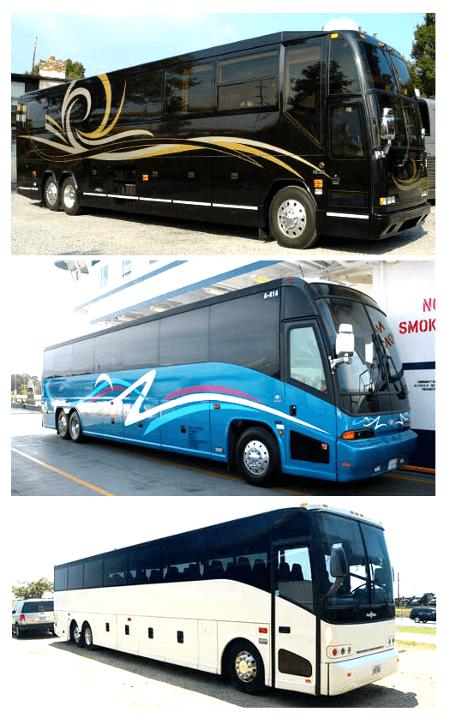 Charter Bus St Petersburg FL